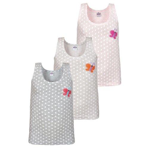 Купить Майка BAYKAR 3 шт., размер 98/104, светло-серый/серый/розовый, Белье и купальники