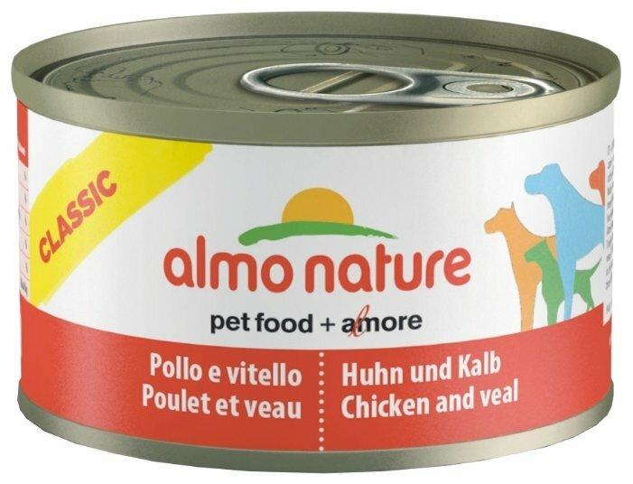 Корм для собак Almo Nature Classic курица, телятина 95г
