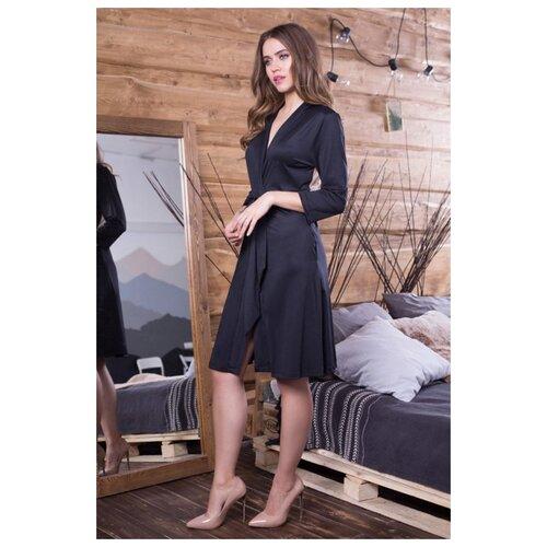 Халат Mia-Mia размер XS(42) черный платье mia mia размер xs 42 черный белый