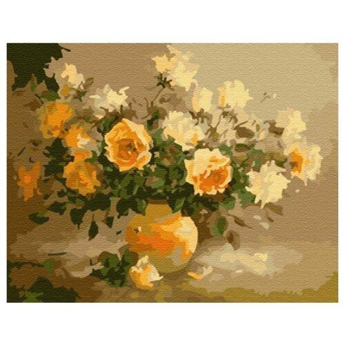 Купить Paintboy Картина по номерам Чайные розы 40х50 см (G052), Картины по номерам и контурам