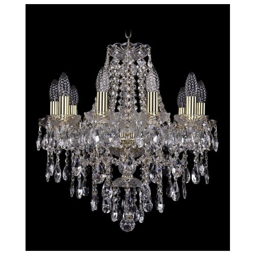 Фото - Люстра Bohemia Ivele Crystal 1415 1415/10/165/G, E14, 400 Вт люстра bohemia ivele crystal 1415 1415 20 10 5 400 xl 180 3d g e14 1400 вт