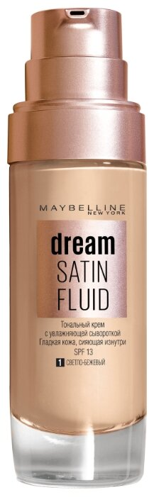 Maybelline Тональный флюид Dream Satin Fluid 30 мл