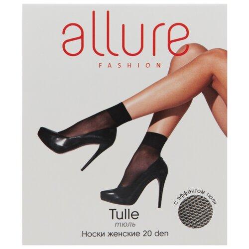 Капроновые носки ALLURE Tulle 20 den, размер универсальный, nero