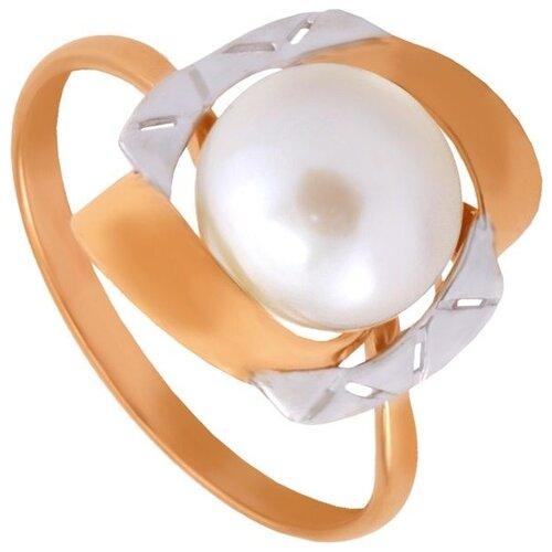 Фото - ПримаЭксклюзив Кольцо с 1 жемчугом из красного золота 190-1-519Р, размер 17 примаэксклюзив кольцо с 1 жемчугом из красного золота 190 1 921р размер 17