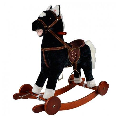 Купить Каталка-качалка Pituso Лошадка GS2033W черный, Каталки и качалки
