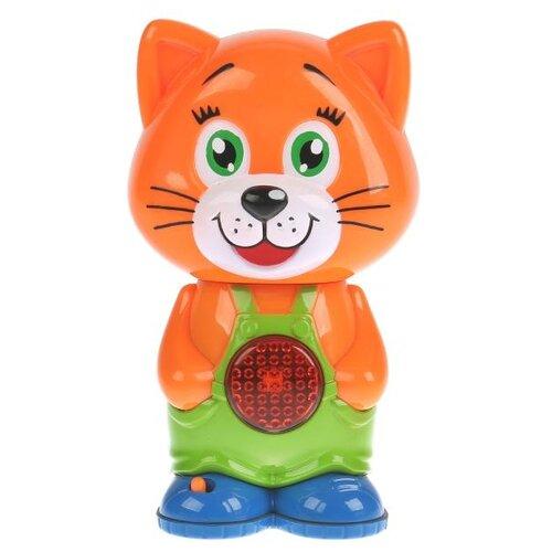 Интерактивная развивающая игрушка Умка Обучающий котенок, оранжевый
