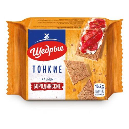 Хлебцы ржаные Щедрые бородинские тонкие 170 г