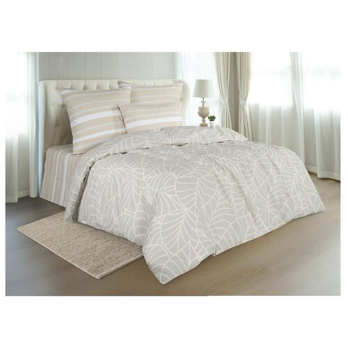 Постельное белье евростандарт Guten Morgen 902 70х70 см, поплин бежевый одеяло guten morgen поплин 140х205 см