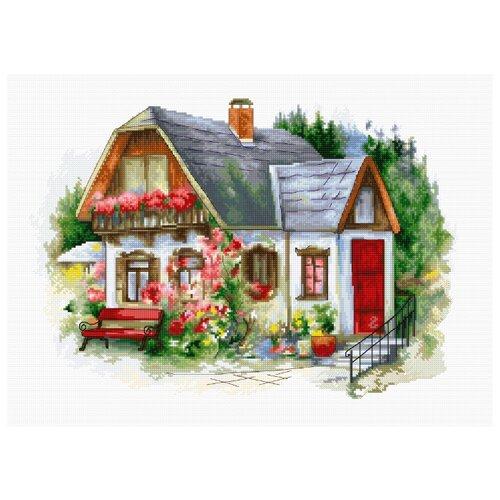 Фото - Luca-S Набор для вышивания Красивый загородный домик 34 х 24 см (BU4005) luca s набор для вышивания щенок 8 х 10 см b088