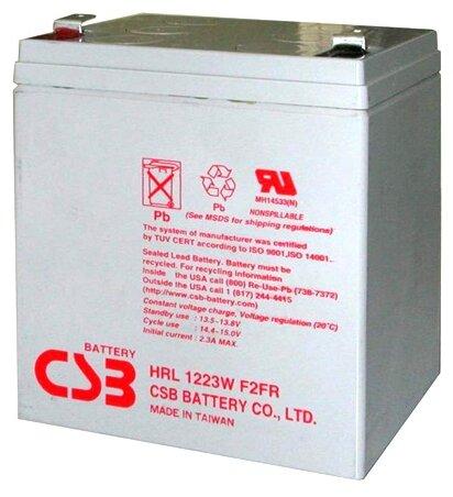 Аккумулятор CSB HRL-1223W (12В, 23Вт/Эл / 12V, 23W / вывод F2)