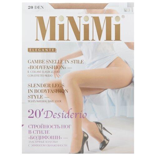 Колготки MiNiMi Desiderio (Nudo) 20 den, размер 3-M, caramello (бежевый) колготки minimi desiderio nudo 20 den размер 4 l daino бежевый