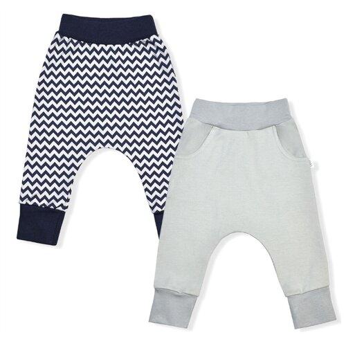 Купить Брюки LEO 1001А-25 размер 86, синий/серый, Брюки и шорты