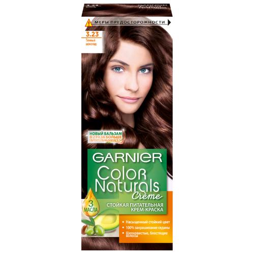 GARNIER Color Naturals стойкая питательная крем-краска для волос, 3.23, Темный шоколад крем краска для волос indola color red