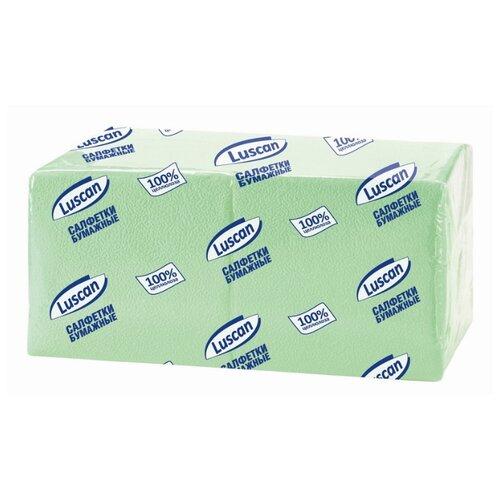 Купить Салфетки бумажные Luscan Profi Pack 1 слой, 24х24 пастель салатовые 400 шт/уп