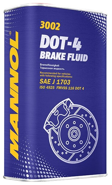 Тормозная жидкость Mannol DOT 4 (MN3002-1ME) 1 л