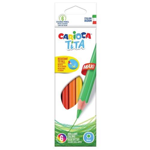 Купить Carioca набор цветных карандашей Tita 6 цветов (42788), Цветные карандаши