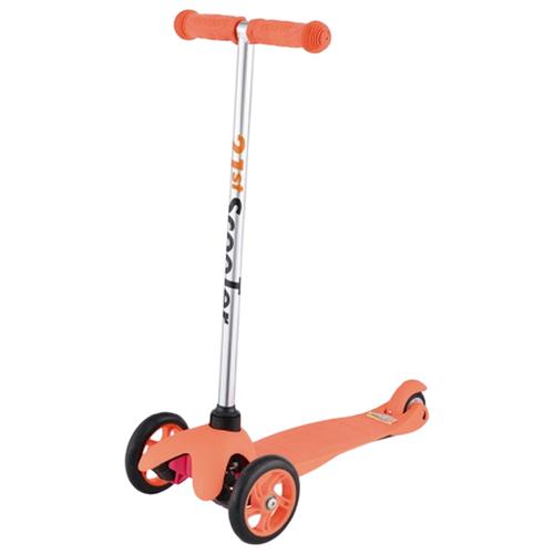 Фото - Детский кикборд 21st Scooter SKL-06A, оранжевый кикборд small rider cosmic zoo scooter оранжевый