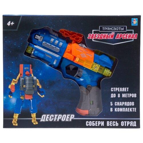 Трансформер 1 TOY Трансботы Звездный арсенал - Дестроер Т16332 синий/оранжевый/серый, Роботы и трансформеры  - купить со скидкой