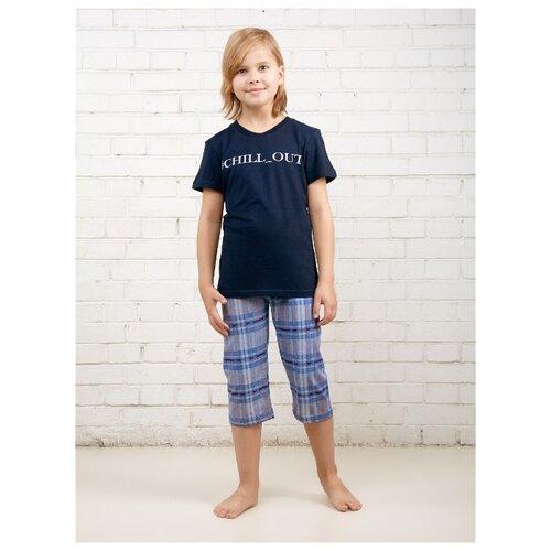 Купить Пижама MOR размер 164, темно-синий/серый, Домашняя одежда