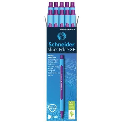 Купить Schneider Набор шариковых ручек Slider Edge XB, 0.7 мм 10 шт., фиолетовый цвет чернил, Ручки