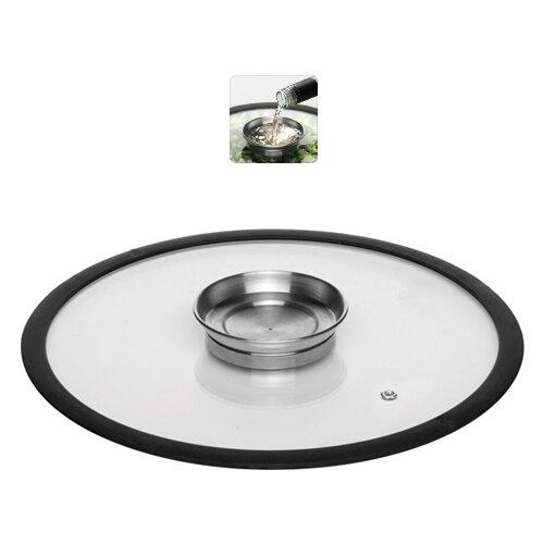 Фото - Стеклянная крышка NADOBA с силиконовым ободом, 28 см (751511) крышка стеклянная nadoba greta 28 см