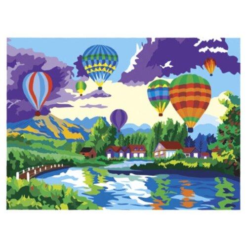 Купить Остров сокровищ картина по номерам Воздушные шары 29х39.5 см, Картины по номерам и контурам