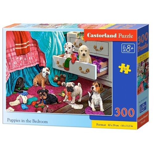 Купить Пазл Castorland Щенки в спальне (B-030392), 300 дет., Пазлы