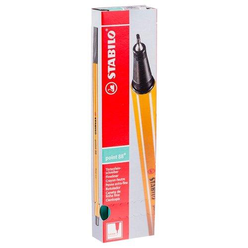 Купить STABILO Набор капиллярных ручек Point 88 0.4 мм, 10 шт., зеленый лед цвет чернил, Ручки