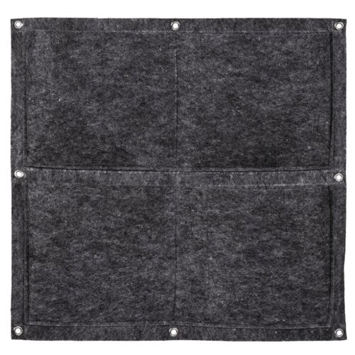 Qwerty Органайзер из фетра квадратный, 4 кармана серый
