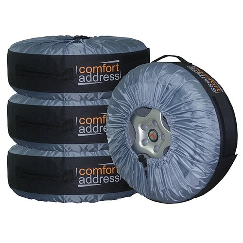 Чехлы для шин Comfort Address BAG-016 R13-20, 4 шт черный/серый