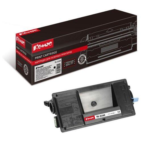 Фото - Картридж лазерный Комус TK-3160 черный, для Kyocera Ecosys P3045 картридж лазерный комус tk 580k черный для kyocera fs c5150dn