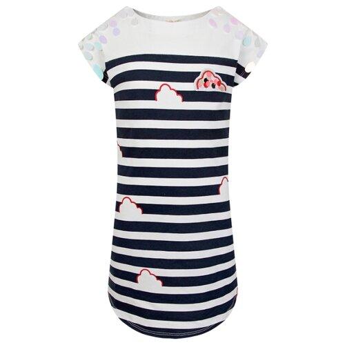 Купить Платье Billieblush размер 104, белый/синий/полоска, Платья и сарафаны