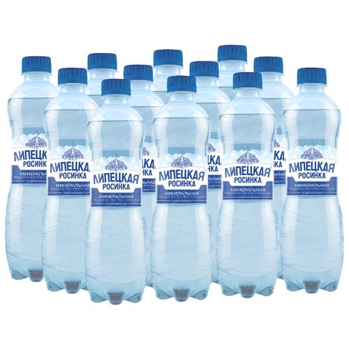 Вода минеральная природная питьевая лечебно-столовая Липецкая Росинка газированная, ПЭТ, 12 шт. по 0.5 л вода минеральная природная питьевая лечебно столовая липецкая газированная стекло 12 шт по 0 5 л