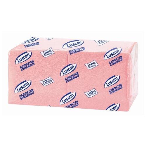 Купить Салфетки бумажные Luscan Profi Pack 1 слой, 24х24 пастельрозовые 400 шт/уп