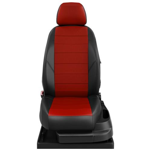 декоративные вставки в передний бампер синий красный желтый skoda karoq 2020 шкода карок Авточехлы для Skoda Karoq с 2020-н.в. джип Active. Задняя спинка 40 на 60 сиденье единое. Передний подлокотник. 5 подголовников (Шкода). ЭК-06 красный/чёрный