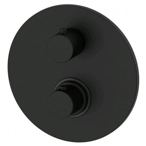 Смеситель для ванны с подключением душа Paffoni Light LIQ018 color однорычажный с термостатом встраиваемый черный смеситель для ванны с подключением душа omnires fresh fr7136 однорычажный с термостатом встраиваемый хром