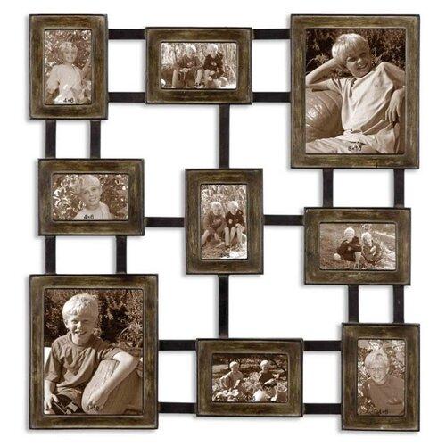 цена на Фоторамка-коллаж Uttermost Lucho 13541 на 9 фото: 25x20 см, 10x15см коричневый