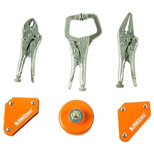 Магнитный угольник FoxWeld MULTI-6 оранжевый/серебристый магнитный угольник start sm1603 75 lbs красный