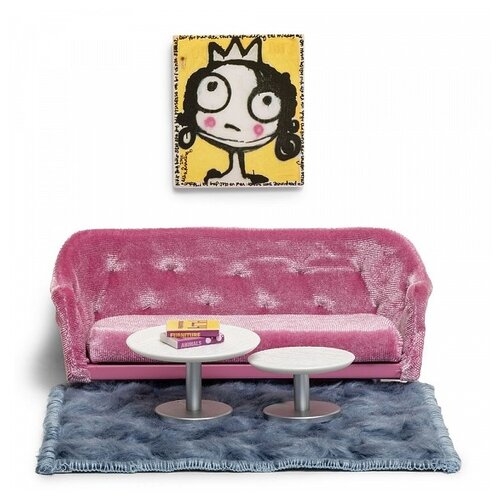 Купить Lundby Набор мебели для гостиной (LB_60200200) розовый, Мебель для кукол