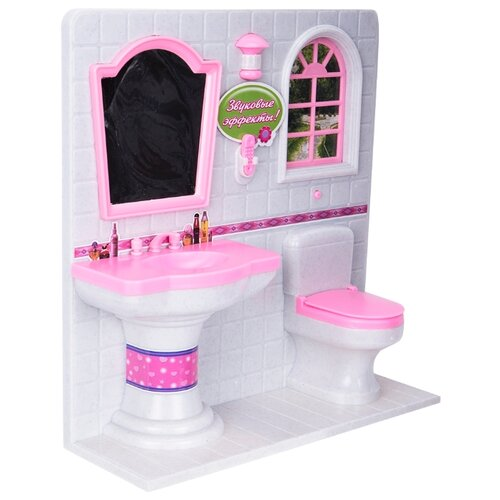 цена S+S Toys Ванная Уютная квартирка (100328638) белый/розовый онлайн в 2017 году