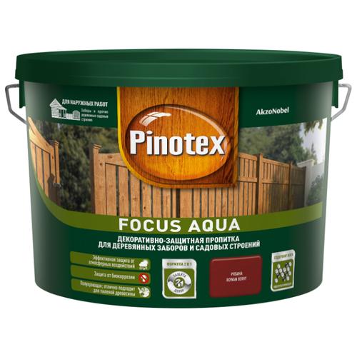 Биоцидная пропитка Pinotex Focus Aqua рябина 9 л