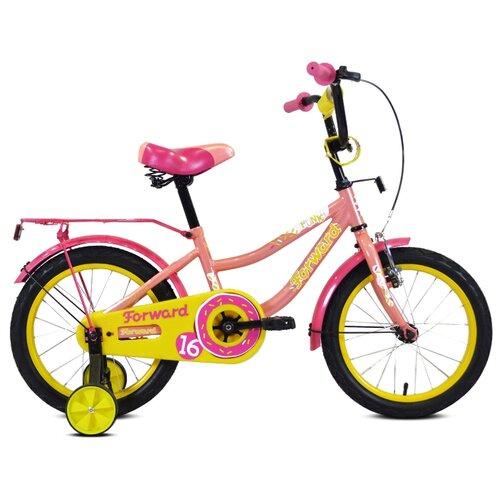Детский велосипед FORWARD Funky 16 (2020) коралловый/фиолетовый (требует финальной сборки)