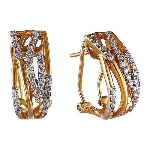 JV Серьги с бриллиантами из белого золота AAE-4196-WG