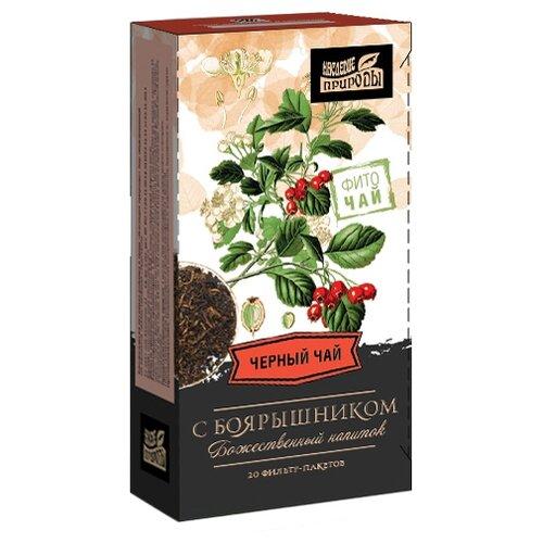 Чай черный Наследие природы с боярышником в пакетиках , 20 шт.