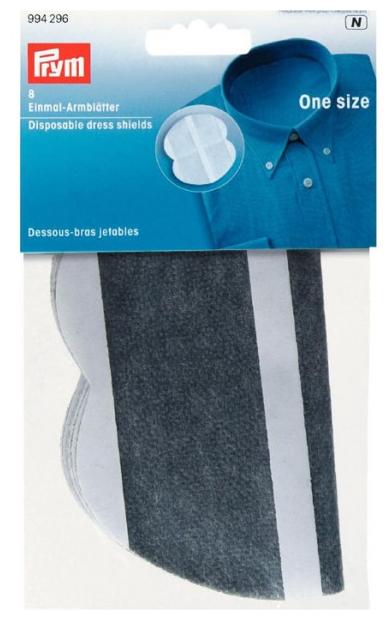 Вкладыши для одежды Prym Подмышечники одноразовые 8 шт