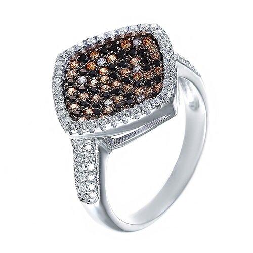 ELEMENT47 Кольцо из серебра 925 пробы с кубическим цирконием SL30428B1_KO_001_WG, размер 16.5