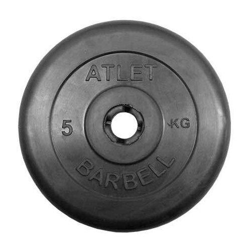 Диск MB Barbell Стандарт MB-PltB31 5 кг черный диск mb barbell стандарт mb pltc26 10 кг зеленый