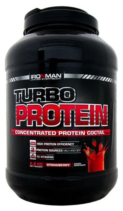 Купить Протеин IRONMAN Turbo Protein (2.8 кг) земляника по низкой цене с доставкой из Яндекс.Маркета (бывший Беру)