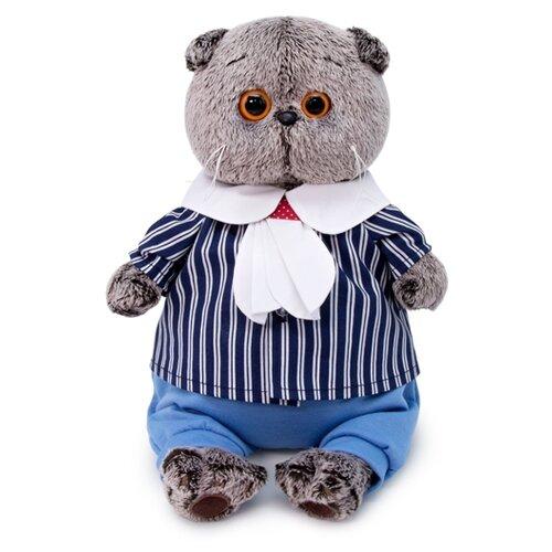 Купить Мягкая игрушка Basik&Co Кот Басик в морском костюме 19 см, Мягкие игрушки