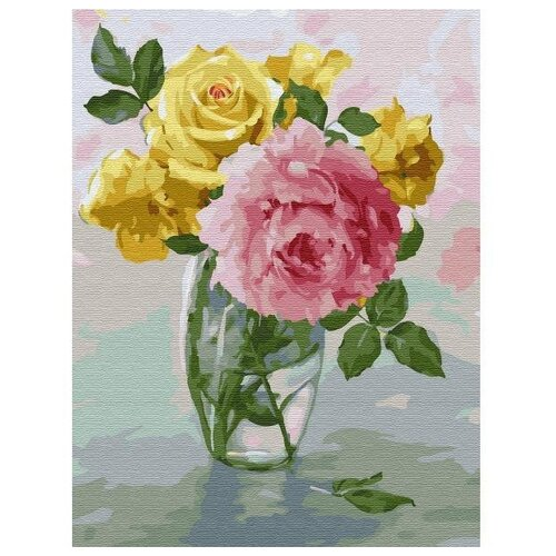 Купить Molly Картина по номерам Пионы и розы 30х40 см (KK0660), Картины по номерам и контурам